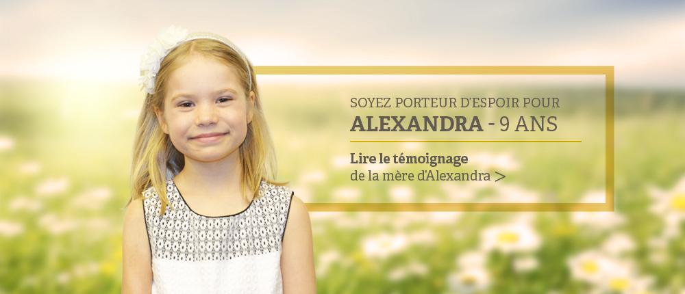 temoignage de la mere d'alexandra, 7 ans