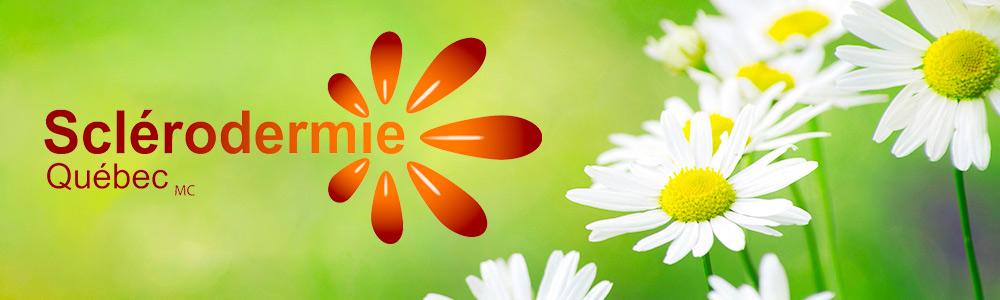 logo sclérodermie Québec avec des fleurs